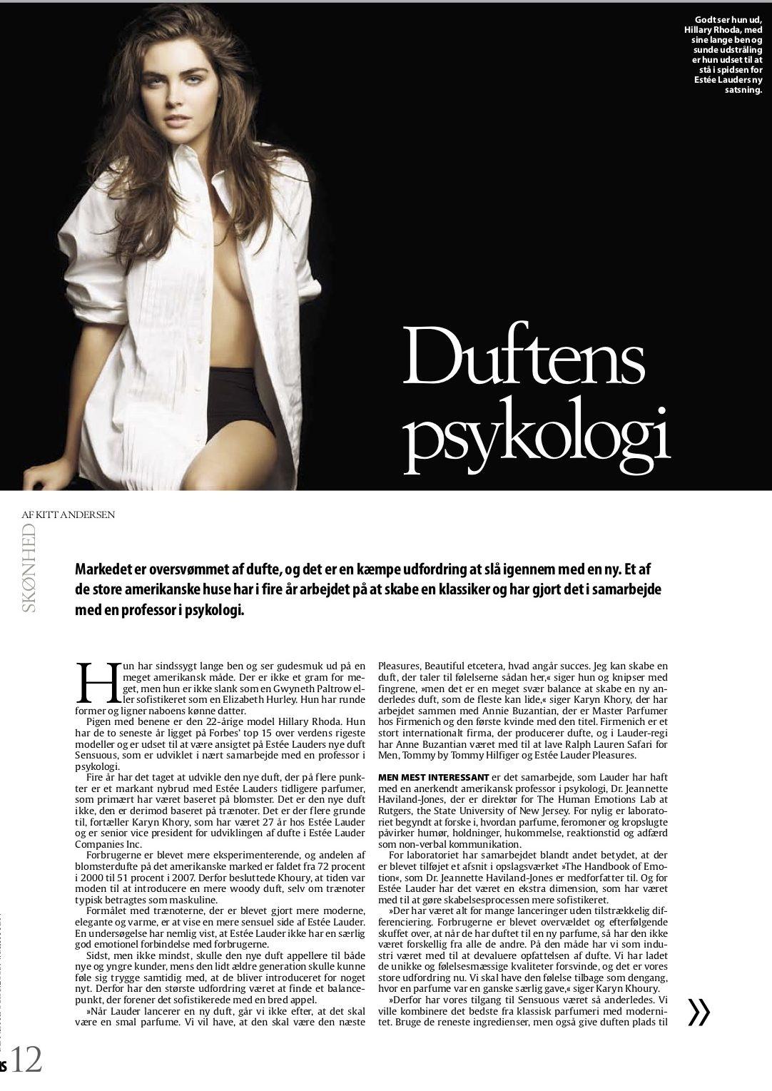 Duftens psykologi MS Berlingske 2009