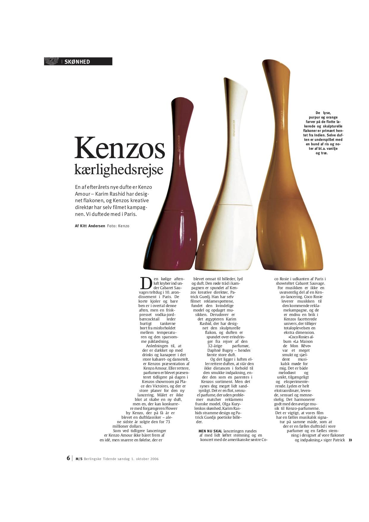 Din Biografi – Kenzos kærlighedsrejse MS Berlingske 2006