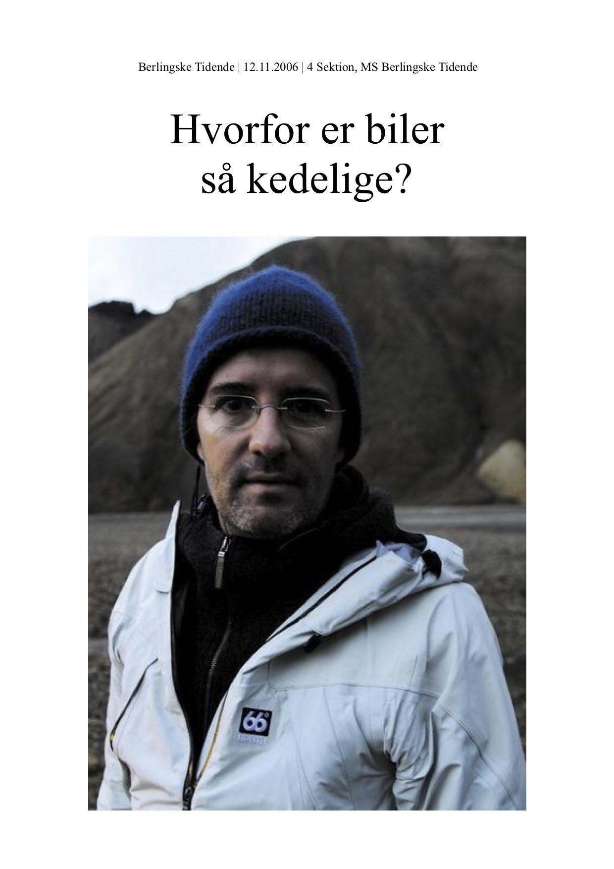 Din Biografi – Olafur Eliasson MS Berlingske 2006